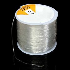 Beading Cord String Thread Rope 0.8mm Spool 100 Meters Clear Stretch Elastic DIY