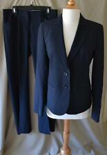 Theory Navy Wool Gaberdine Pant Suit Size 8/10