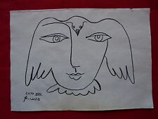 PABLO PICASSO  -  DRAWING / INK ON ORIGINAL PAPER      ..-- -// ---