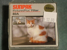 Tocad Sunpak 52mm 80A Color Correction Filter New