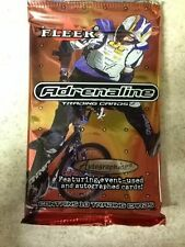 2000 Fleer Adrenaline 10 Trading Cards Pack Event-Used & Autograph Cards?