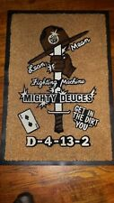 """US ARMY MARINES MIGHTY DEUCES D-4-13-2 GET IN THE DIRT """"YOU"""" CUSTOM FLOOR MAT"""