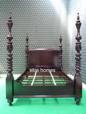 Super King size mahogany Dutch Style  Four poster canopy Bed not Tudor