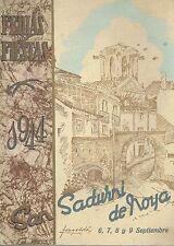 Programa Oficial de las Ferias y Fiestas de San Sadurni de Noya, Septiembre 1944