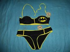 TWO PIECE DC COMICS BATMAN BIKINI SWIMSUIT WONEN'S SIZES:XL (DC15BG4895) ZIPPERS
