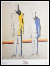 Kasimir Malewitsch Due contadini Poster Kunstdruck mit Alu Rahmen in 80x60cm