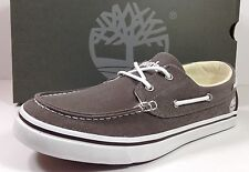 TIMBERLAND Newmarket 2 Eye Brown Boat Shoes Men's Size 10.5 M Canvas 335123 NEW