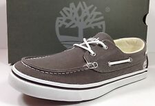 TIMBERLAND Newmarket 2 Eye Brown Boat Shoes Men's Size 9 M Canvas 335123 NE
