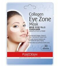 PUREDERM Collagen Hydro Mask Eye Zone Dark White 15 Pairs Path (1 Pack 30 Sheet)