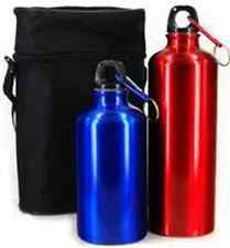5 PIECE ALUMINIUM BOTTLE SET CAMPING WALKING HIKING FLASK BACKPACKING EQUIPMENT