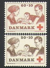 Denmark 1969 Red Cross/Medical/Health/Welfare/Royalty/People 2v set (n35883)