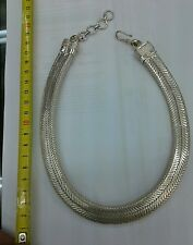 collana argento indiano PIATTA 170 gr INDIAN SILVER snake unisex necklace 45 CM