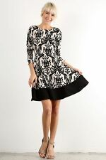 NWOT ModCloth StitchFix Gilli Your Part's Desire A-Line Damask Dress Large