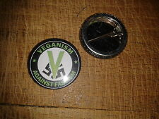 Vegan Antifa button badge 25mm punk antifascist veganism #2