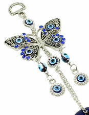 "Blue Evil Eye 2.75"" Butterfly Amulet Protection Wall Hanging Home Decor Gift"