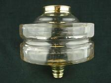 BEAUTIFUL CLEAR FACET CUT GLASS OIL LAMP FONT SCREW FIT, 23mm UNDERMOUNT