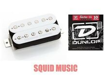 Seymour Duncan SH-4 JB Humbucker Bridge Pickup In White ( 1 SET OF STRINGS )