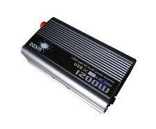 DC 24V to AC 220V USB 1200W Power Inverter Car Boat Converter Electronic USBPort