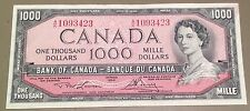 ONE THOUSAND Dollar Bill - 1954 series AU to UNC condition NICE!