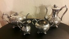 Vintage ( 1835 to 1920 ) 4 Piece James Dixon & Sons Silver Plate EPBM Service