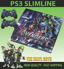 PLAYSTATION 3 SLIM PS3 SLIM AVENGERS ASSEMBLE 003 SKIN & 2 POLSTER FOLIEN