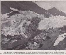 1927  --  AVALANCHE COUPANT LA ROUTE DU TOURMALET AU DESSUS DE BAREGES   3C033
