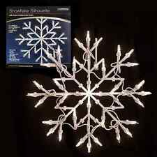 Xmas Decoration Snowflake Silhouette Christmas Window Fairy Light Ornament White