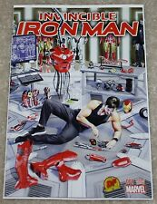 INVINCIBLE IRON MAN 1 V2 DF DYNAMIC FORCES MIKE MAYHEW VARIANT COA SPIDER-MAN