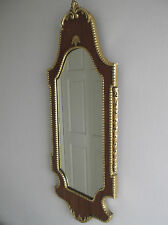 60s RETRO VINTAGE KITSCH  WALL MIRROR CHIPPY FABLON WITH GILT EDGING KITSCH