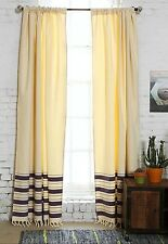 "Urban Outfitters Locust 4040 Grey Stripe Curtain With Tie Back 52""X 96"" Purple"