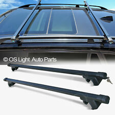 Dodge Caravan/Durango/Journey Roof Rack Black Crossbar Set Top Cargo Bars +Lock