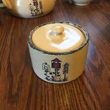 Home & Garden Party Ltd 2004 Butter Crock w/ Lid - Birdhouse Collection