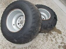2006 Honda TRX 350 Rancher 2X4 Rear Wheels Rims 25X11-10 Tires / Bald