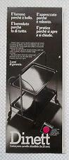 A447-Advertising Pubblicità-1979-DINETT - CARRELLO CHIUDIBILE
