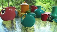 FIESTA 28 OZ. SMALL DISK DISC JUICE PITCHER  turquoise blue