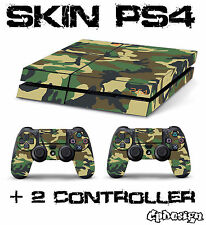 PS4 SKIN CAMOUFLAGE MIMETICA  + 2 CONTROLLER decal sticker playstation 4 sony