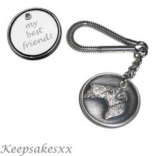 Wire Fox Terrier - Dog Tag Disc KEYRING  Key Chain with PERSONALISED ENGRAVING