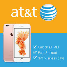 AT&T PREMIUM FACTORY UNLOCK SERVICE CODE IPHONE 7 PLUS 6S 6 SE 6 5S - ALL IMEI