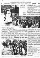 NANTERRE TRIPLE ANNIVERSAIRE ARTICLE PRESSE PAR ERIC D' AFFREVILLE 1932
