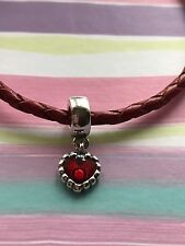 New PANDORA Heart Pendant Charm Item No. 790471EN07