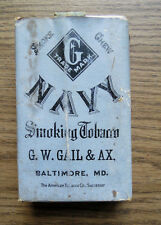 OLD NAVY SMOKING TOBACCO BOX - G.W. GAIL & AX BALTIMORE MD