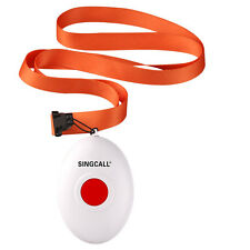 SINGCALL Wireless Nursing One Button Bell has Necklace for Old Patients Children