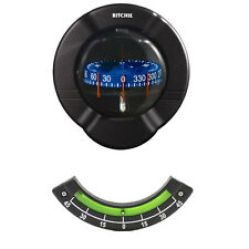Ritchie Venture Marine Sailboat Bulkhead LED CombiDial Compass with Clinometer