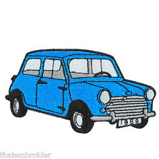 Blue Mini Cooper Austin Classic Cars Racing Embroidered Iron on Patch #MC005