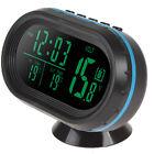 12V/24V Car LCD Digital Thermometer Voltage Meter Noctilucous Clock Freeze Alert