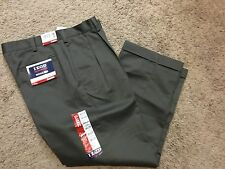 NWT IZOD American Chino Classic-Fit Wrinkle-Free Khaki Double Pleat Pant 36X30