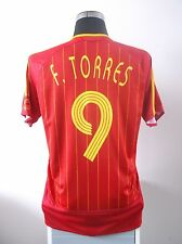 Fernando Torres # 9 SPAGNA HOME FOOTBALL SHIRT JERSEY 2006-2008 (M)