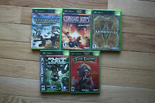 Original Xbox Game Lot Splinter Cell Jade Empire Morrowind Crimson Skies Bundle