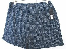 KENNETH COLE~Blue Black Geometric Shapes BOXERS UNDERWEAR~Mens Large~NWT