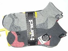 Hind mens low cut 1/4 gray running run Socks sz 10-13   lot of 6 pair